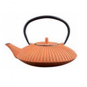 Théière Somani plate striée 1.2 l orange