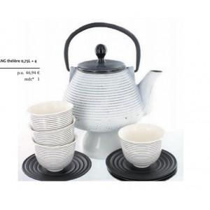 Théière Shenyang + 4 bols